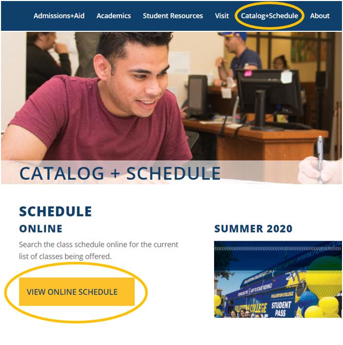 Screenshot of the FC website