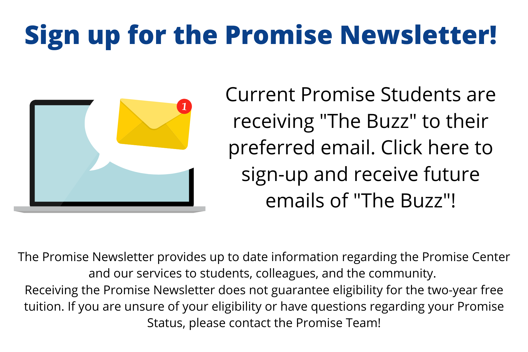 Click here to sign up for the Promise Newsletter
